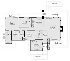 modern style house plan 4 beds 3 00 baths 2490 sq ft plan 64 246