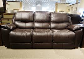 Leather Reclining Sofas And Loveseats by Dillard Omega Chocolate Leather Reclining Sofa