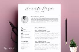 minimal resume cv template resume templates creative market