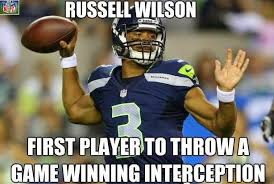 Russell Wilson Memes - 22 meme internet russell wilson first player to throw a game