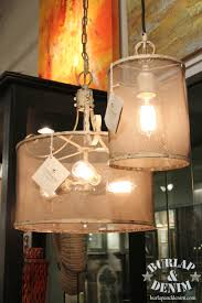 Burlap Chandelier Shades 7 New Lighting Trends From Winter Market 2014 Burlap