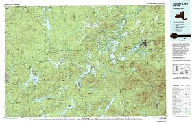 Adirondack Mountains Map Ny Route 30 The Adirondack Trail Tupper Lake Topographic Map