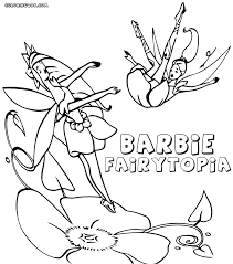 barbie fairytopia coloring pages coloring pages to download and