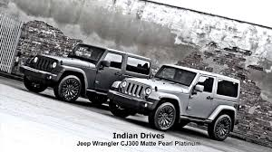 matte white jeep jeep wrangler cj300 matte pearl platinum kahn design youtube