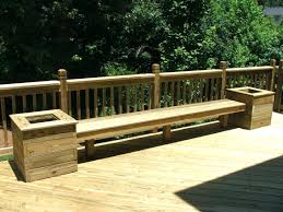 Wooden Deck Bench Plans Free by Wood Deck Benches U2013 Ammatouch63 Com