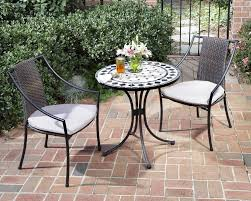 creative outdoor bistro table set with two chair set for lawn