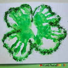 handprint four leaf clover st patrick u0027s day kids craft
