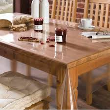 buy freelance pvc plastic transparent clear dining table cover