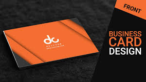 Photography Business Cards Psd Free Download Orange Gray 3d Business Card Mockup Psd Free Download Tutorial