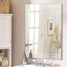 amazon com frameless wall mirror home u0026 kitchen
