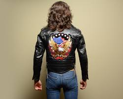 mens leather motorcycle jackets vintage 60s leather motorcycle jacket easy rider american flag