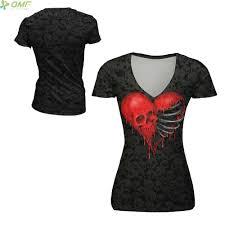 Ladies Halloween Shirts by Online Get Cheap Skeleton Heart Shirt Aliexpress Com Alibaba Group