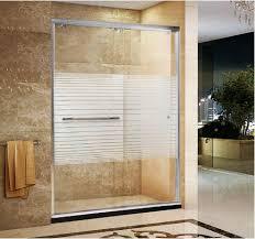 tempered glass shower door sale factory stripe printed tempered glass shower door