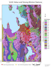 Soil Maps Geological Site Conditions Average Shear Wave Velocity Maps U