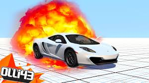 captainsparklez fiat beautiful mclaren destruction beamng drive stress test youtube