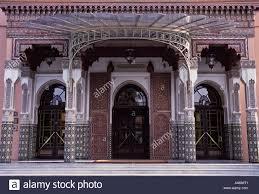 morocco marrakech main entrance of five star hotel la mamounia a