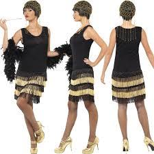 1920s fringed flapper ladies fancy dress costume 20s great gatsby