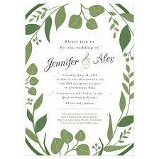 wedding invitiations classic greenery plantable wedding invitation plantable wedding