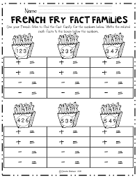 ideas collection fact family worksheets for grade for your
