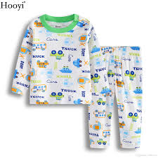hooyi 2018 baby pajamas clothes suit cotton boys