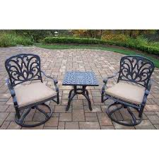Square Bistro Chair Cushions Square Bistro Sets Patio Dining Furniture The Home Depot