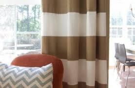Tan And White Horizontal Striped Curtains Peach Colored Shower Curtain Eyelet Curtain Curtain Ideas