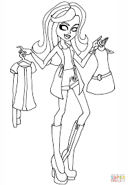 i heart fashion scarah coloring page free printable coloring pages