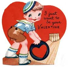 kid valentines free clip from vintage crafts archive free