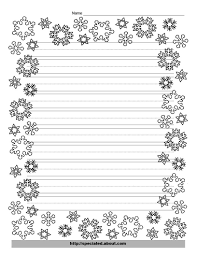 blank kindergarten writing paper these free christmas printables are perfect for kids writing kindergarten snowflake writing template