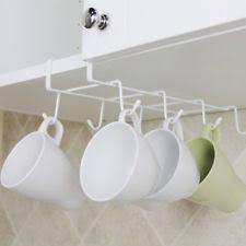 under cabinet coffee mug rack chrome kitchen mug racks holders ebay
