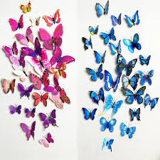 aliexpress com buy free shipping 12pcs pvc 3d butterfly wall