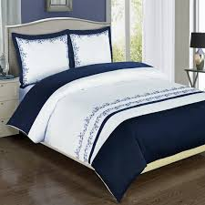Blue Full Comforter Set Bedding Exclusive Navy And White Amalia 3 Piece Full Comforter Set