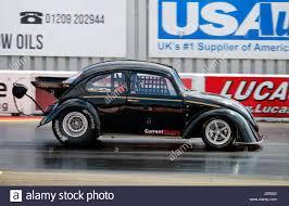 volkswagen santa a vw beetle dragster at the santa pod raceway in england stock