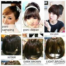 hair clip poni jual hair clip extension rambut palsu poni depan bahan fiber