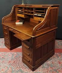 bureau style ancien ancien bureau américain cylindre rideau à caisson noyer scriban
