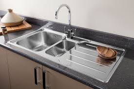 Chrome Or Brushed Steel Finish Kitchen Tap For Your Kitchen Sink - Brushed steel kitchen sinks