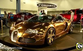 bugatti gold and flo rida drives a gold bugatti veyron video