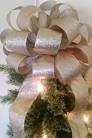 amazon com gold tree topper bow christmas bow gift bows