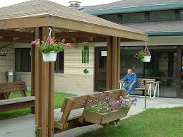Home Courtyard by Blue Valley Care Home Mentally Disabled Care Nebraska Nursing