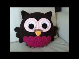 Crochet Owl Rug Crochet Owl Pillow Youtube
