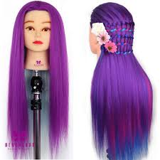 hairstyles to do on manikin synthetic hair rainbow color cosmetology mannequin manikin