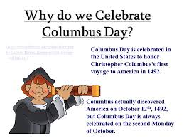why do we celebrate columbus day does anyone the poem