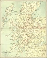 Map Scotland Map Showing The Districts Of The Highland Clans Of Scotland