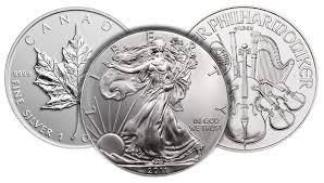 modern tender silver bullion coins the big three