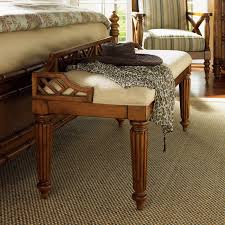 Bedroom Bench With Storage Tommy Bahama Island Estate Plantain Bed Bench Hayneedle