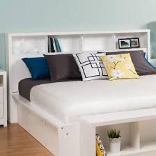 white bookcase bed uncategorized modern headboard with shelves full bookcase bed