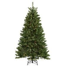 shop living 6 1 2 ft spruce pre lit artificial