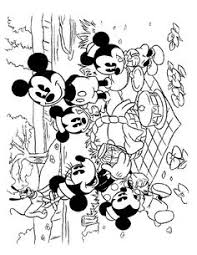 mickey mouse washing car coloring coloring pages disney