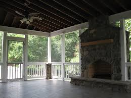 screened covered patio with fireplace living improvements