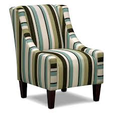 Occasional Chairs Living Room Funiture Accent Chair With Armrest And Vertical Lining Motif For